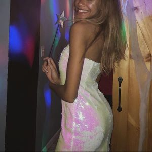 Sequin holographic dress